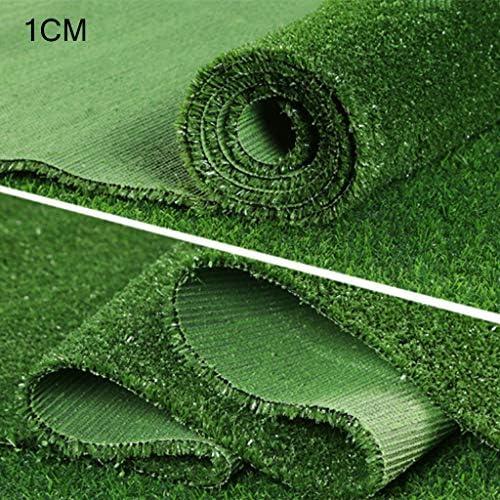 YNFNGXU 2メートル×1メートル10ミリメートルパイルハイカーペット人工芝ガーデンバルコニー高密度アンチエイジングフェイク芝生、グリーン (Size : 2x1.5m)