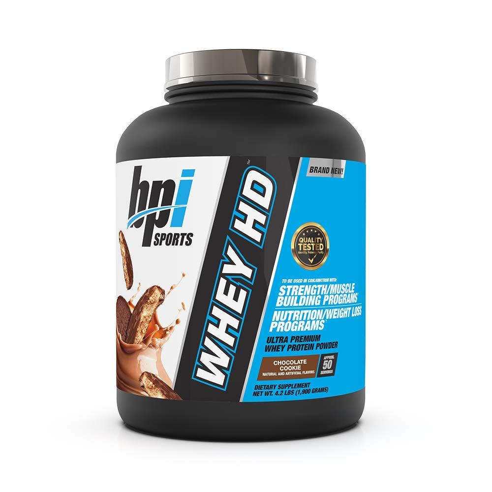 BPI Sports Whey HD Ultra Premium Protein Powder, Chocolate Cookie, 4.2 Pound