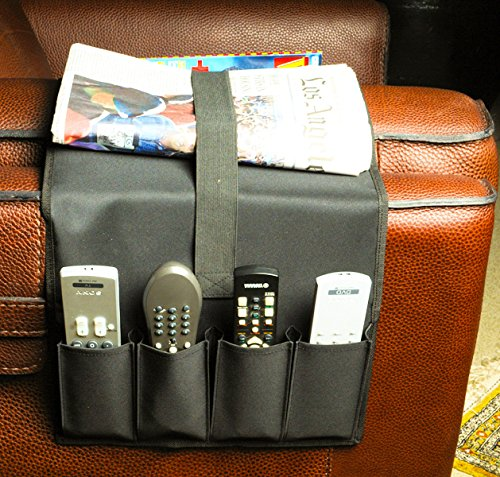 remote control caddy armchair couch holder newspapers magazines organizer ebay. Black Bedroom Furniture Sets. Home Design Ideas