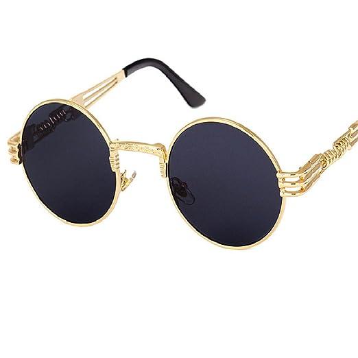 Amazon.com: Vintage Retro Steampunk Mirror Sunglasses Gold ...