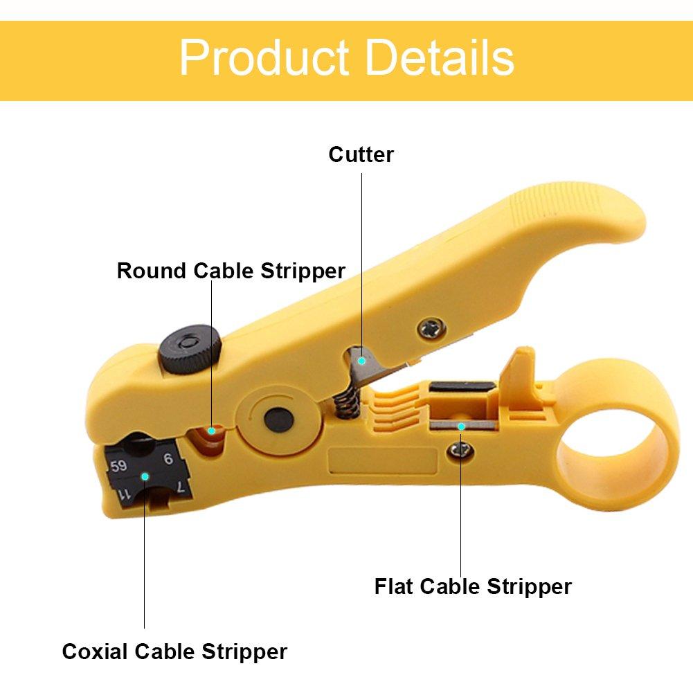 Westonetek Cortador Separador Herramienta pelacables (universal, para cables planos y redondos UTP, Cat5, Cat6, coaxiales): Amazon.es: Bricolaje y ...