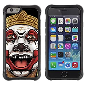 Hybrid Anti-Shock Defend Case for Apple iPhone 6 plus Inch / Evil Clown Painting