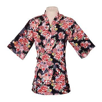 Ropa de trabajo japonesa Chaqueta de cocinero Kimono Sushi ...
