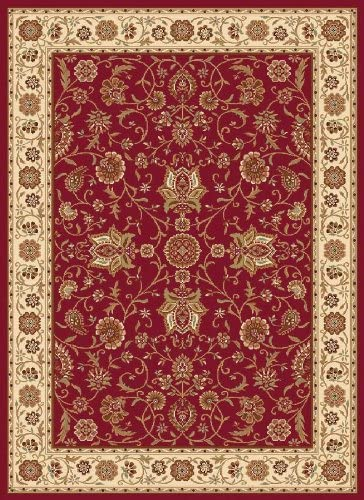 Home Dynamix Madlena Area Rug 7 10 Round, Oriental Red Ivory