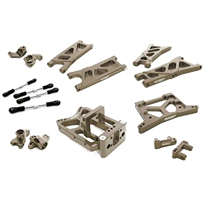 Integy RC Model Hop-ups C26738GREY Billet Machined Suspension Kit for HPI 1/10 Jumpshot MT, SC & ST