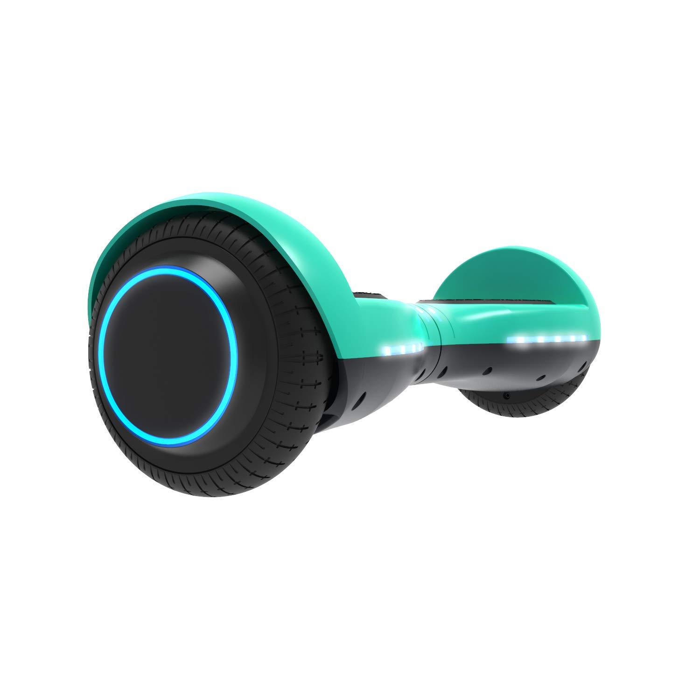 GOTRAX ION LED Hoverboard - UL Certified Hover Board w/Self Balancing Mode (Aqua)