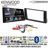 Volunteer Audio Kenwood DMX7704S Double Din Radio Install Kit with Apple CarPlay Android Auto Bluetooth Fits 2002-2006 Toyota Camry with Amplified System