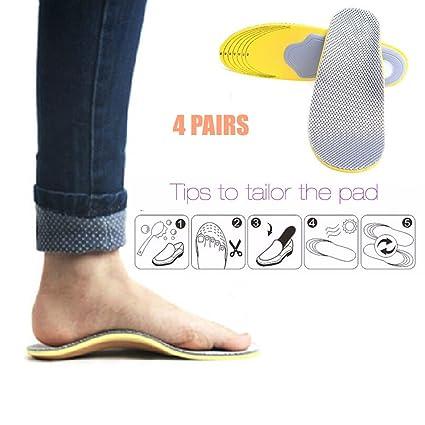 97b69f0b pedimendtm 4 pares arco del pie apoyo plantillas ortopédicas Zapatillas de  | sandalias Zapatillas de trabajo ...