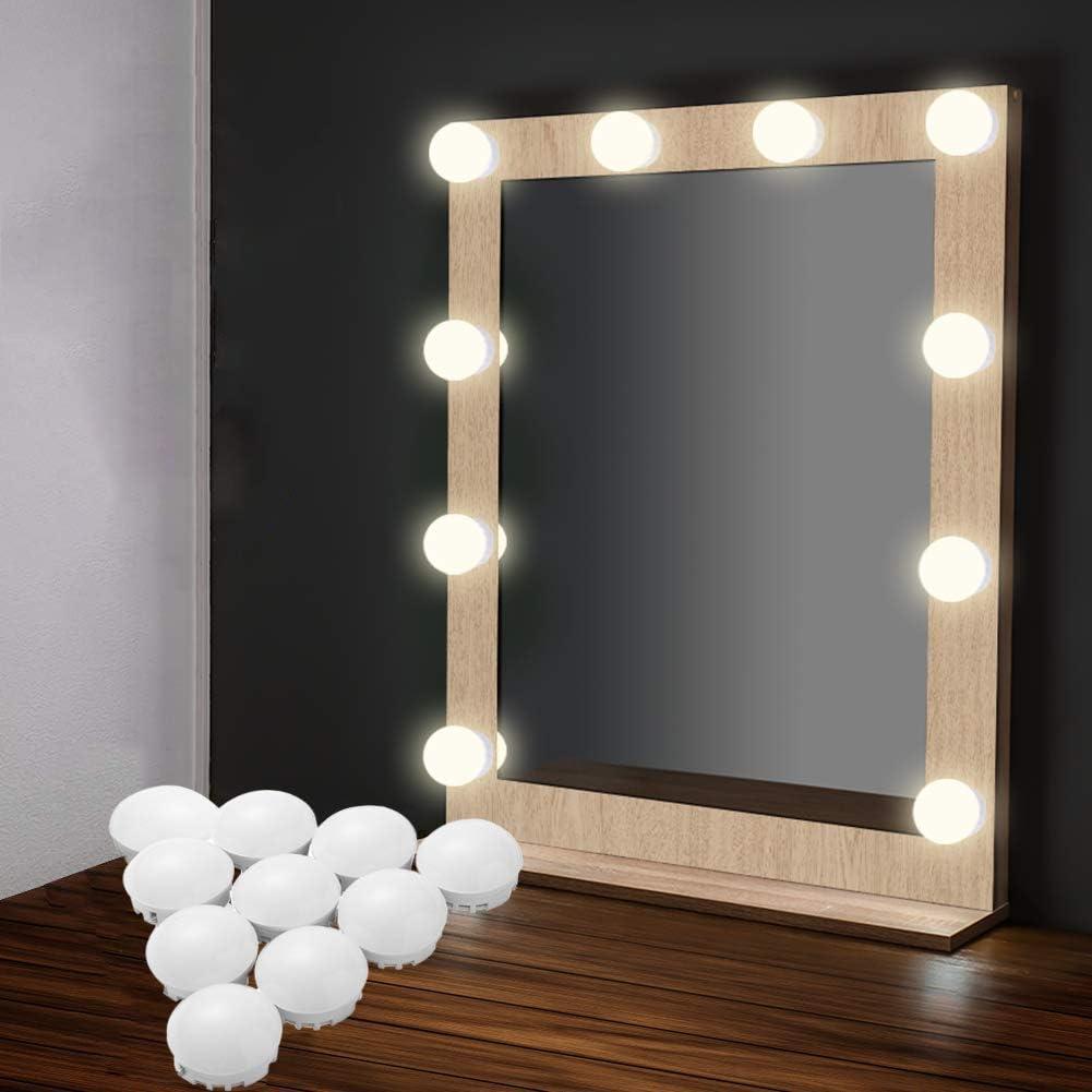 Vanity Mirror Lights Strip Kit Eeieer 10 Dimmable Lighting Bulbs And Usb Plug In Led For Lighted Vanity Table Mirror Bedroom Diy Lighting Fixtures White Color Amazon Co Uk Lighting