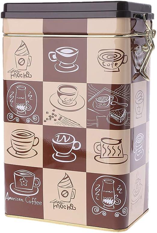 Lazder Caja de metal cuadrada para caramelos, joyas, monedas, café ...