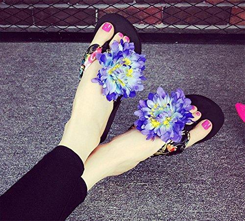 Las patas acolchadas de espinilla Arrastrar evitar el deslizamiento de tierra, calzado fresco verano señoras Beach Shoes 6