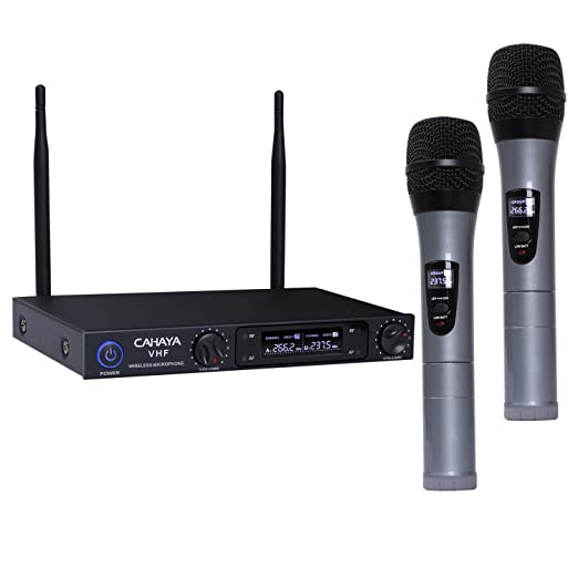 2 opinioni per CAHAYA Microfono Senza Fili Set Microfono Sistema di Microfono Senza Fili a 2