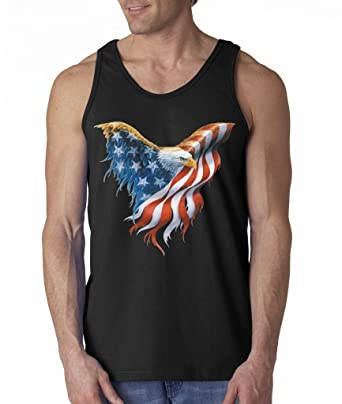 89f6d9130f4f9e USA Flag Bald Eagle Proud Nation Men s Tank Top American Flag 4th Of July Tank  Tops