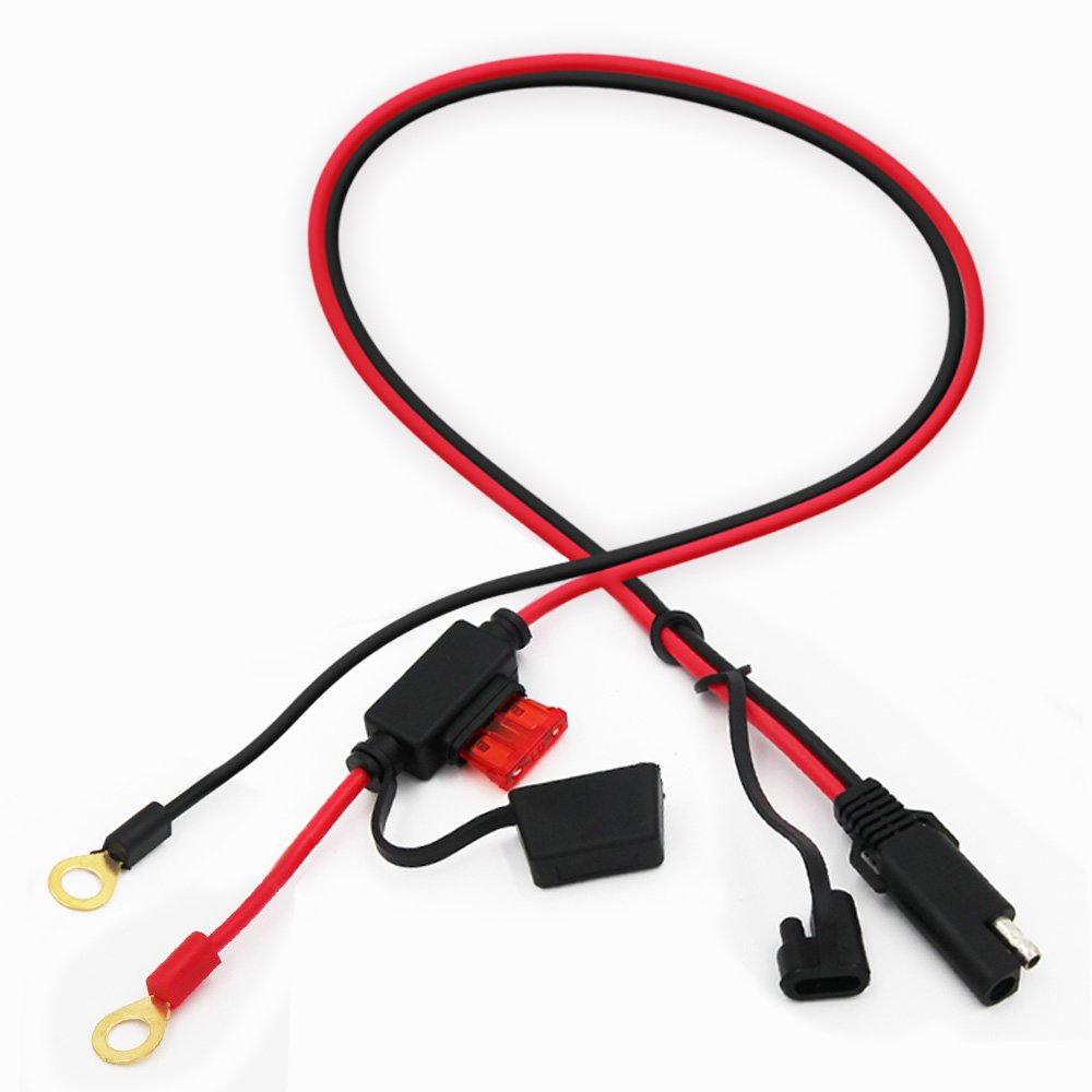 Battery Charging Cable Ring Terminal Wiring Harness 2 Pin Quick Disconnect Wire Plug Sae Extension