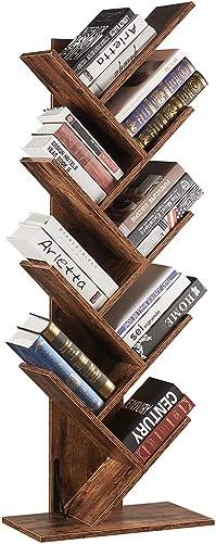 SUPERJARE 9-Shelf Tree Bookshelf