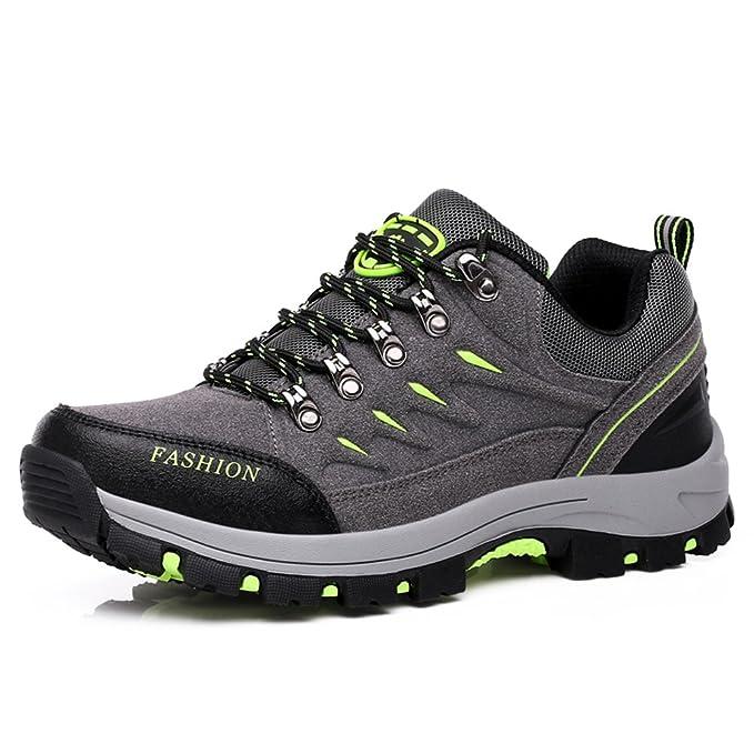Damen Wandern und Trekking Schuhe rutschfeste wasserdichte Sportschuhe leicht und langlebig , grey , 38