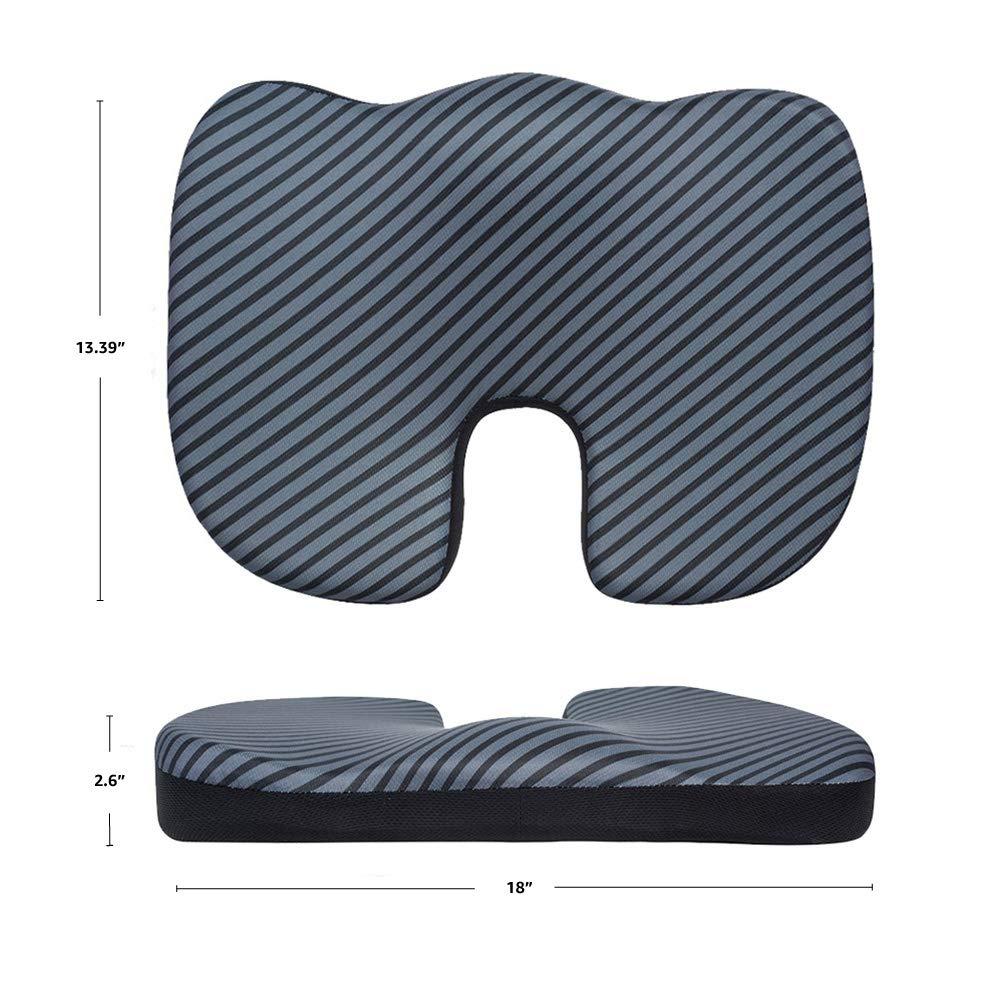 Basics dise/ño en U negro Coj/ín viscoel/ástico para asiento