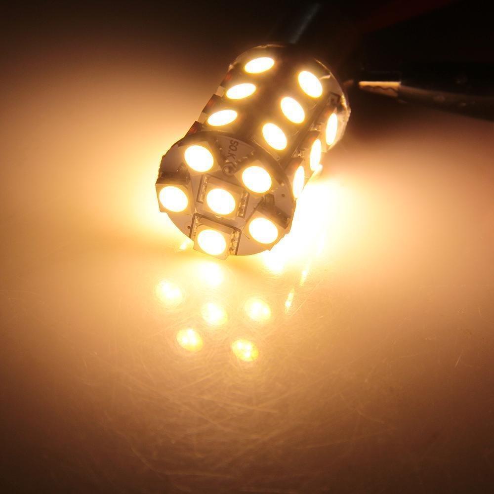 White Ronben 10x1156 BA15S 27 LED 5050 SMD Car Tail Brake Light Bulb Lamp