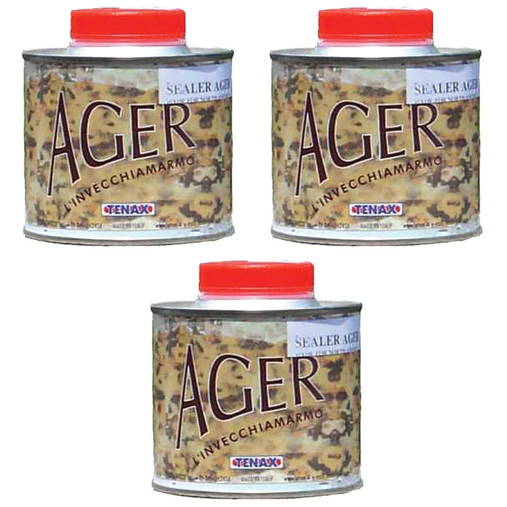 Tenax AGER Color Enhancing Granite Sealer, Marble Sealer, Stone Sealer - 1/4 Liter (Pack of 3)