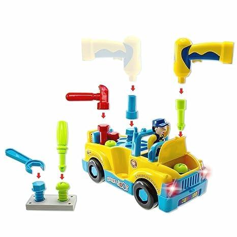 VANGOLD Juguete para BebéS, CamióN De Herramientas De Juguete, Camión Desmontable de construcción EléCtricas