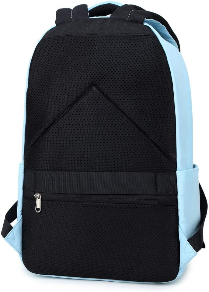 Acmebon Mochila Escolar Cl/ásica para Ni/ña Mochila de Color Liso para Adolescentes Cielo Azul