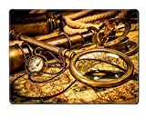 MSD Placemat Vintage magnifying glass compass telescope - Best Reviews Guide