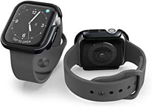 X-Doria Defense Edge, Compatible with 40mm Apple Watch - 40mm Apple Watch Case - Premium Aluminum & TPU Bumper Frame, Compatible with Apple Watch Series 4, Series 5, and Series 6 (Black/Black)