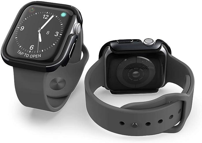 X-Doria Defense Edge, Compatible with 40mm Apple Watch - 40mm Apple Watch Case - Premium Aluminum & TPU Bumper Frame, Compatible with Apple Watch Series 4, Series 5, and Series 6 (Black/Black)