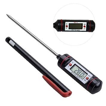 Tookie - Termómetro Digital para bolígrafos, Acero Inoxidable, Prueba de Temperatura de Salida de