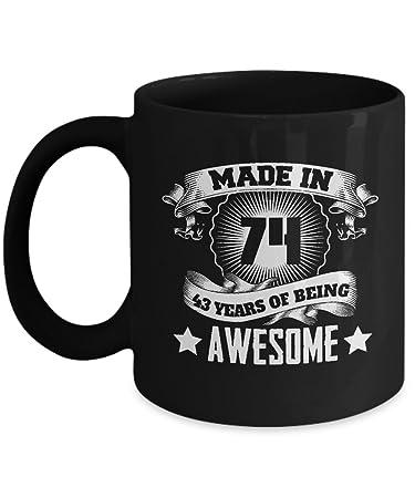 Amazon 43 Years Old Birthday Gift For Men Women1974 Mug Funny