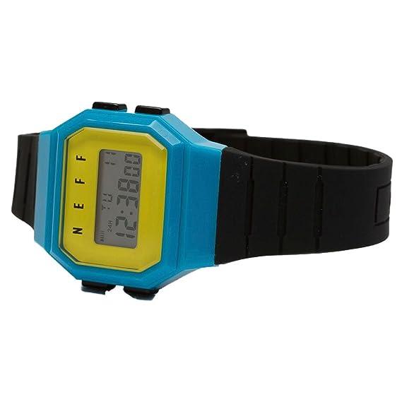 Neff adulto Flava reloj - negro/cian/amarillo Talla única: Amazon.es: Relojes