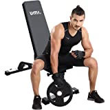 Umi. Essentials Adjustable Weight Bench,1000 LBS Utility WeightThick Padding 90 Degree Double Incline/Decline Workout Bench For Dumbbell Exercise and Body Weight Workouts