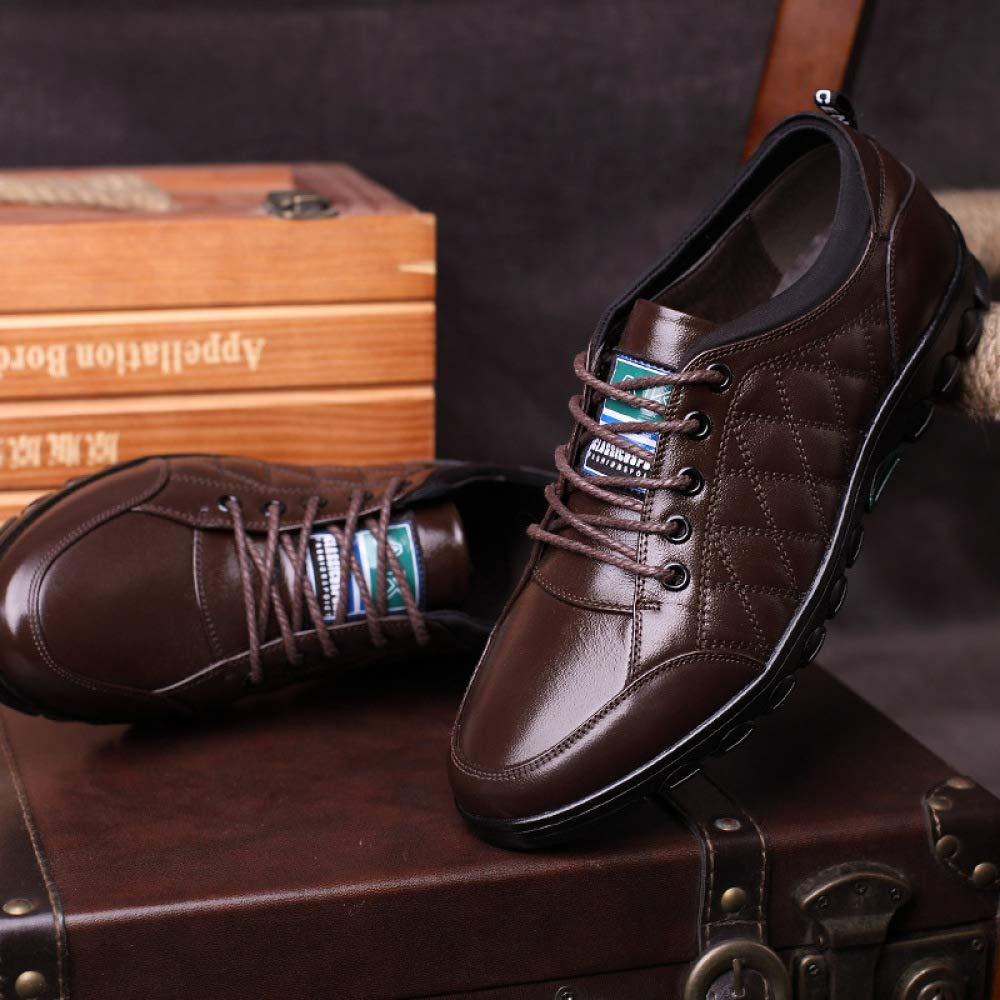 ... Männer Leder Niedrig-Top-Schuhe Herrenschuhe Freizeitschuhe  Schnürsenkel Leder Männer Lederschuhe ... 2d60c7901a