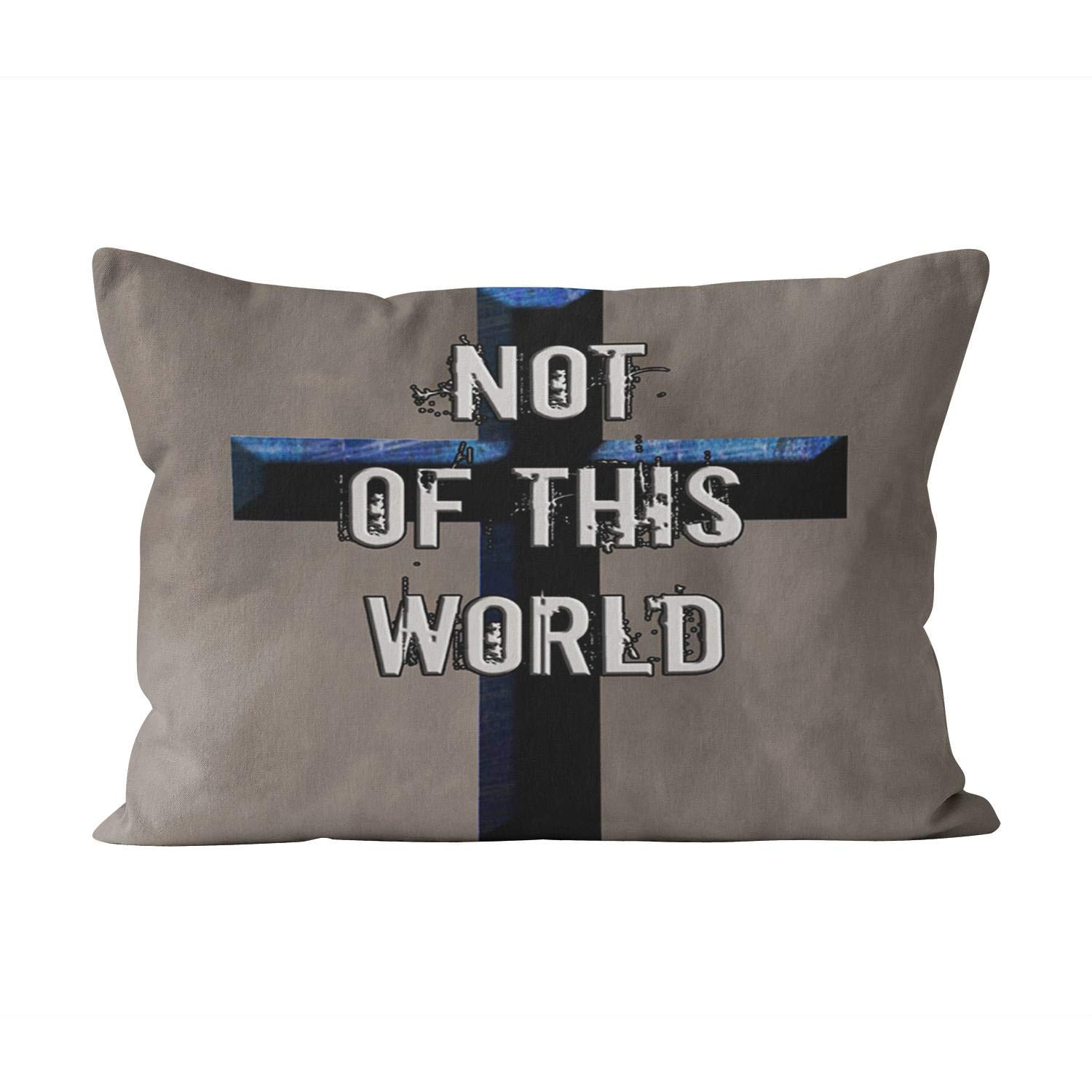 Suklly Cute Not of This World Christian Notw Hidden Zipper Home Decorative Rectangle Throw Pillow Cover Cushion Case King 20x36 Inch One Side Design Printed Pillowcase