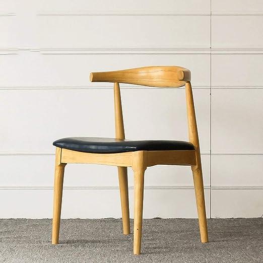 silla madera cuernos exterior