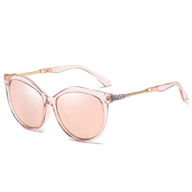 8125d92f120 Image Unavailable. Image not available for. Colour  WHCREAT Classic Fashion  Polarized Sunglasses for Women Cat-Eye Style UV400 Protection Lens - Pink