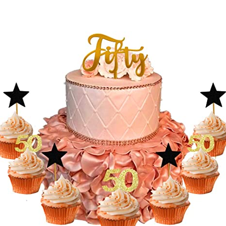 Peachy 21 Pcs Jevenis 50Th Birthday Cake Topper Hello 30 Cake Topper 50Th Birthday Cards Printable Nowaargucafe Filternl