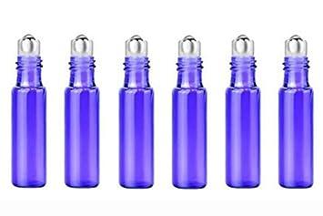 TUPWEL-1 - 6 Botellas de Vidrio Vacías de 5 ML con Rollo de Roll