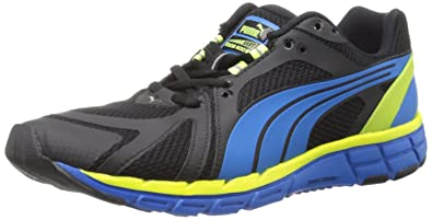 PUMA Faas 600 S Running Shoe,Black/Brilliant Blue,10.5 D US