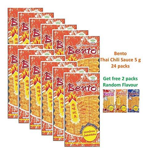 Bento Bake Seasoned Squid & Surimi SeafoodThai Snack Choose from 3 Flavours 5 gram x 24 packs get free!!! 2 random flavours (THAI CHILI SAUCE FLAVOR)