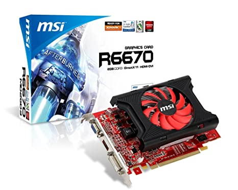 Amazon.com: MSI AMD Radeon HD6670, 2 GB DDR3 de 128 bits ...