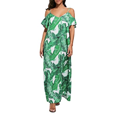 cbe8caebb93 VEMOW Summer Dresses for Women Sexy Maxi Halter Neck Sleeveless Beach Dress  Long Slip Boho Prom