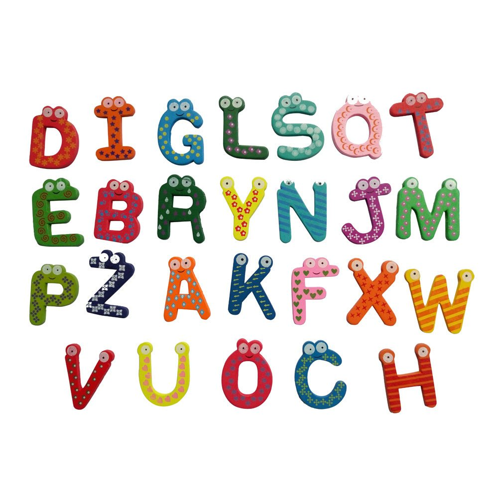 Shubuy Alphabet Magnets for Fridge, ABC Magnetic Lettersfor Preschool Learning Spelling Counting, Kids and Toddler Educational Toys Set (A)