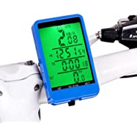 Bike Computer & # xFF0 C; Wireless Velocímetro LCD Backlight Ciclismo para bicicleta Odómetro impermeable