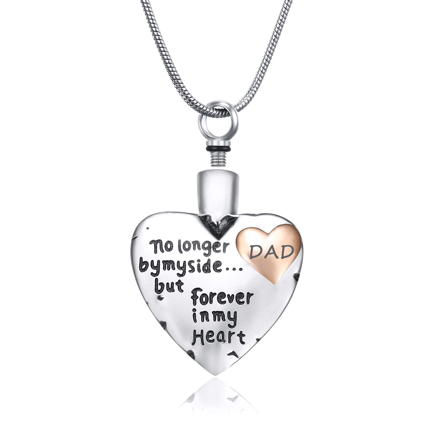 Mermotial Ashes Necklace for Mom Dad Son No Longer by My Side,Forvever in My Heart