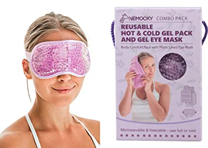 Eye Mask For Puffy Eyes - Gel Ice Packs For Injuries Reusable - Cooling Eye  Mask by Nemocky