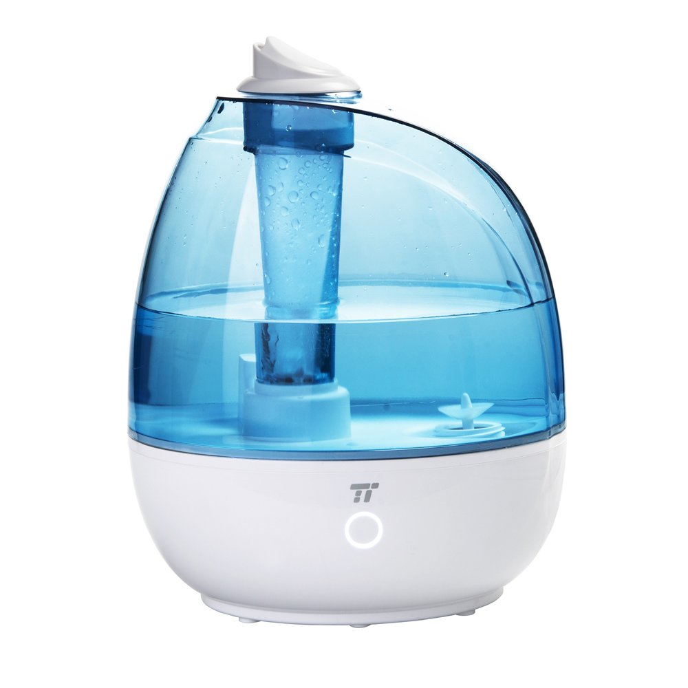 TaoTronics Humidifier, Ultrasonic Cool Mist Humidifiers 2L/0.5Gallon for Bedroom, Baby Room, Small & Space-saving, Filter Free, Whisper Quiet, BPA FREE- US Plug 110V TT-AH009