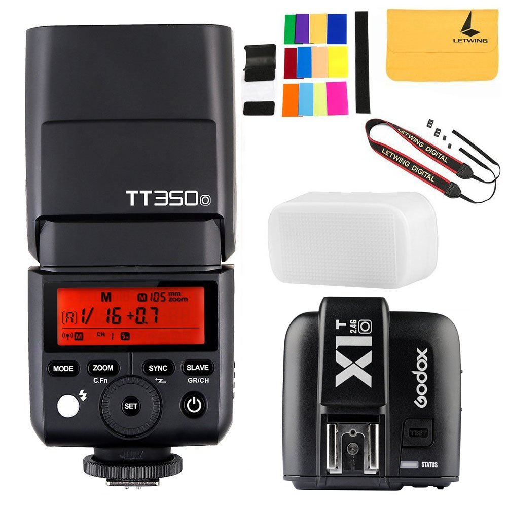 GODOX TT350o 2.4G HSS 1/8000s TTL GN36 Camera Flash Speedlite for Olympus / Panasonic Mirrorless Digital Camera+GODOX X1T-O TTL 1/8000s HSS 32 Channels 2.4G Flash Trigger Transmitter for Olympus