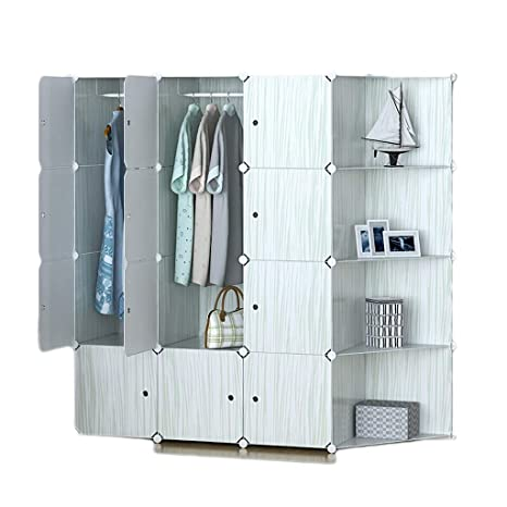 Amazon.com: Convenient Wardrobe Storage Cabinet Plastic ...