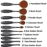 Bullidea Soft 10pcs Toothbrush Shaped Foundation Power Makeup Oval Cream Puff Brushes Set